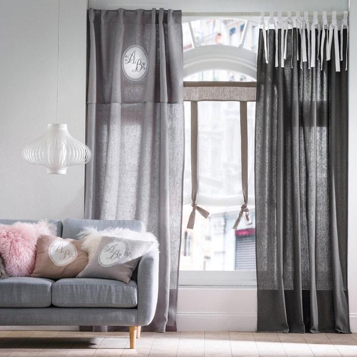 Luiza Two-Tone Single Blind-Style Curtain Panel  La Redoute Interieurs image 0