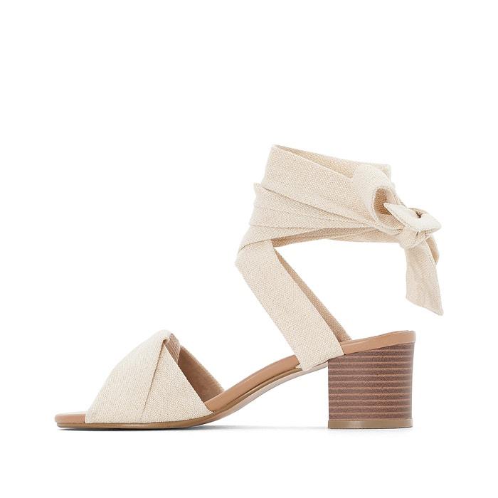 6c78ea6ba839 Wide fit tie-leg heeled sandals