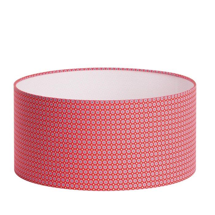 Tissu Abat Jour abat-jour tissu mikko - diamètre 50 cm rouge fabuleuse factory | la