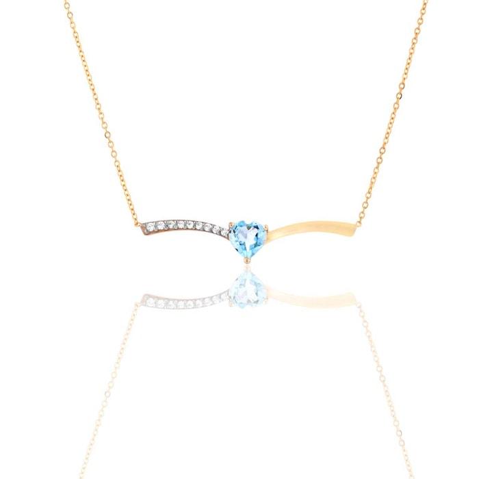 Collier or 375/1000 topaze bleu Cleor | La Redoute Prédédouanement Ordre bsohOOQ62i