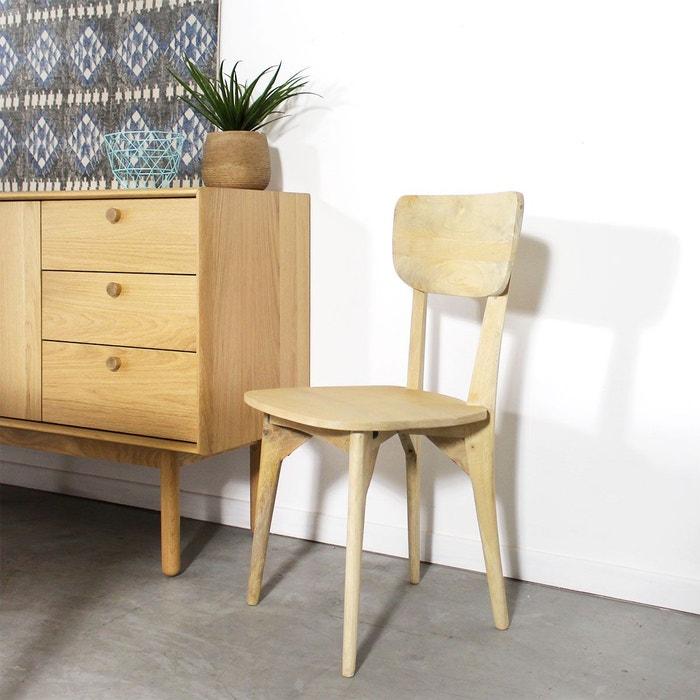 chaise scandinave en manguier massif hc58 couleur unique made in meubles la redoute. Black Bedroom Furniture Sets. Home Design Ideas