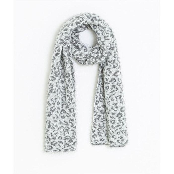 0c89b9877db9f Echarpe réversible motif léopard gris Grain De Malice   La Redoute
