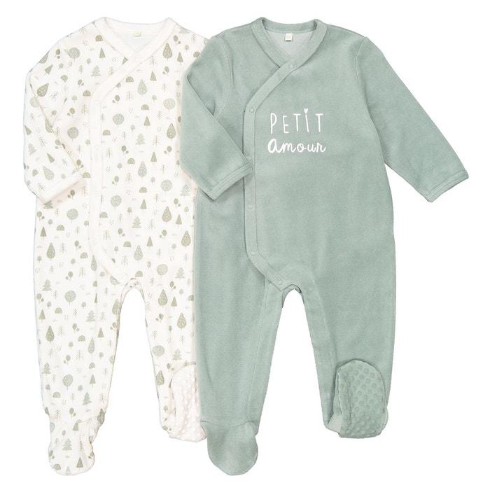 Super remise offres exclusives style le plus récent Lot de 2 pyjamas naissance en velours préma-2 ans