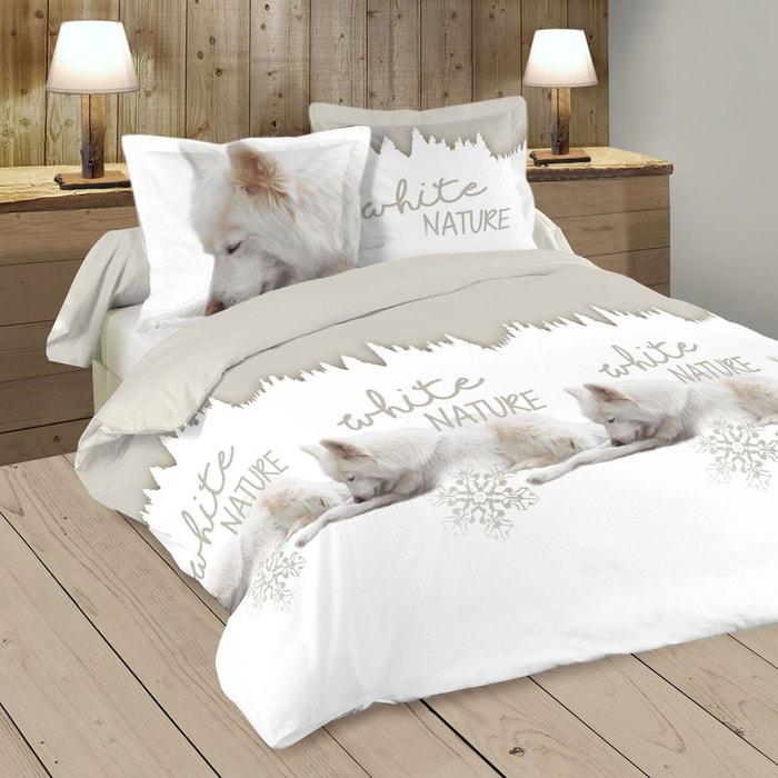 parure de couette white nature beige home maison la redoute. Black Bedroom Furniture Sets. Home Design Ideas