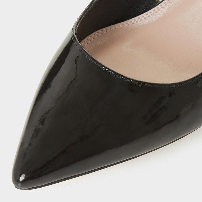 Escarpins à bride arrière - crowne noir synthetic patent Dune London