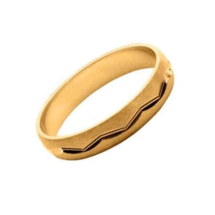 Best-seller Pas Cher En Ligne Pour Pas Cher Bague alliance anneau motif linéaire 4 mm vermeil (or 750 sur argent 925) couleur unique So Chic Bijoux | La Redoute 77y5a