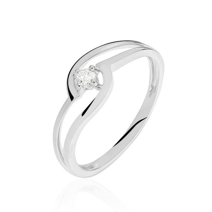 Bague or blanc vagues et diamants blanc Histoire D'or | La Redoute parfait maDDdy