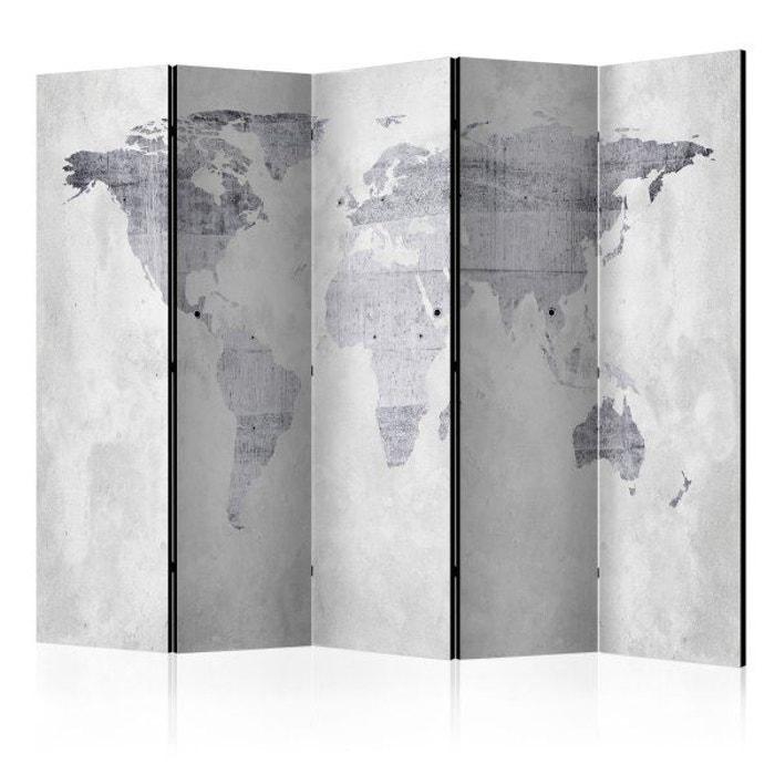 paravent 5 volets concrete map artgeist la redoute. Black Bedroom Furniture Sets. Home Design Ideas