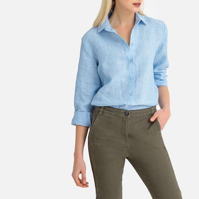 8e7e61fdd Camisa recta de lino con manga larga La Redoute Collections