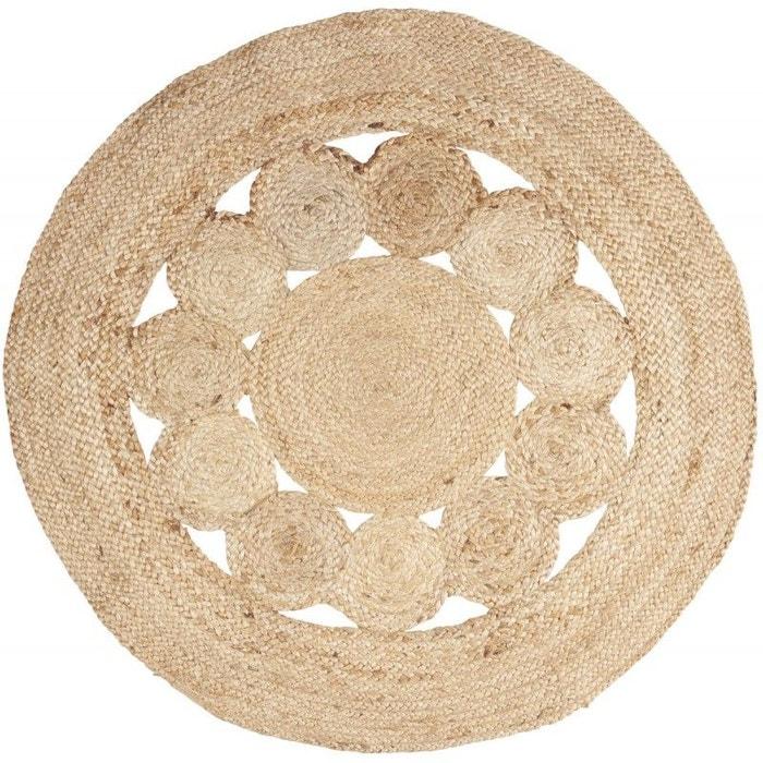 tapis rond jute naturel tress beige ib laursen la redoute. Black Bedroom Furniture Sets. Home Design Ideas