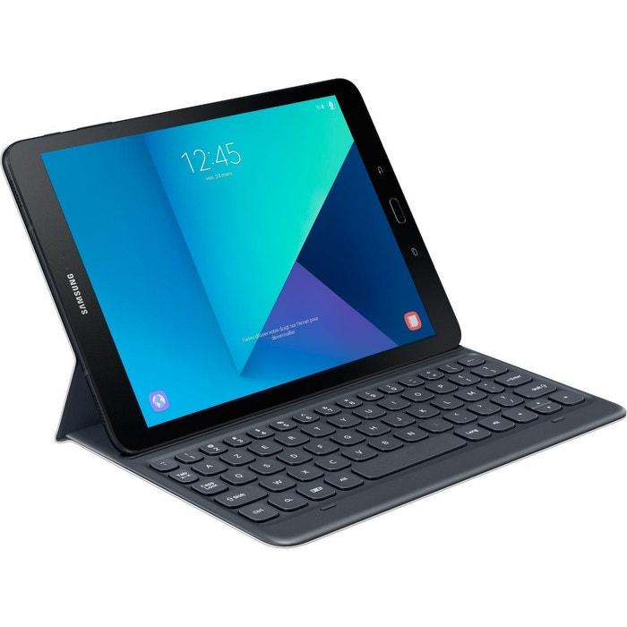 clavier tablette samsung book cover gris pour tab s3. Black Bedroom Furniture Sets. Home Design Ideas