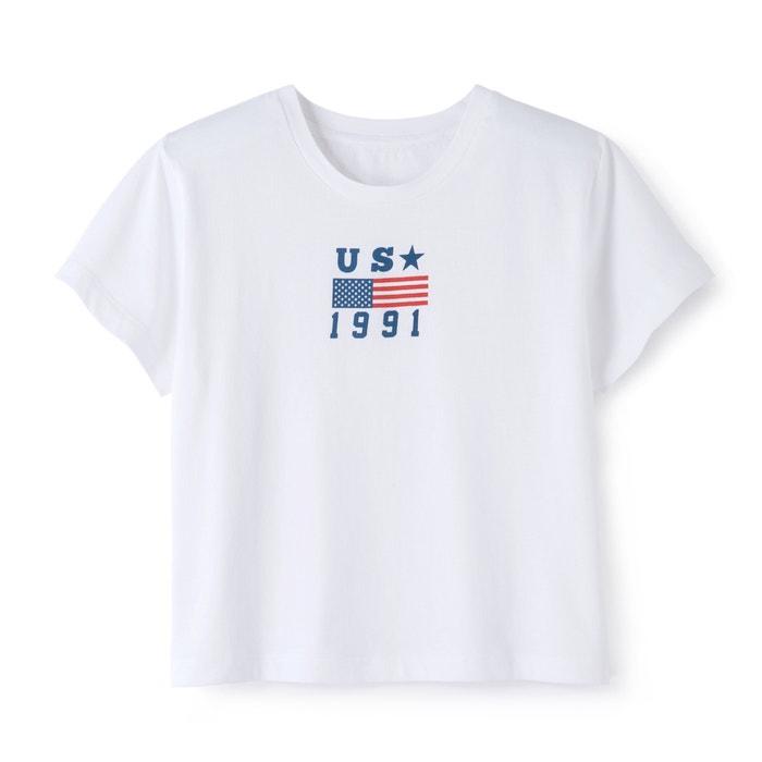 Tee shirt col rond imprimé, manches courtes  La Redoute Collections image 0