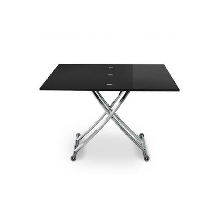 Noire Table Laquée Basse Relevable Table Noire Relevable Basse CxrdBeo