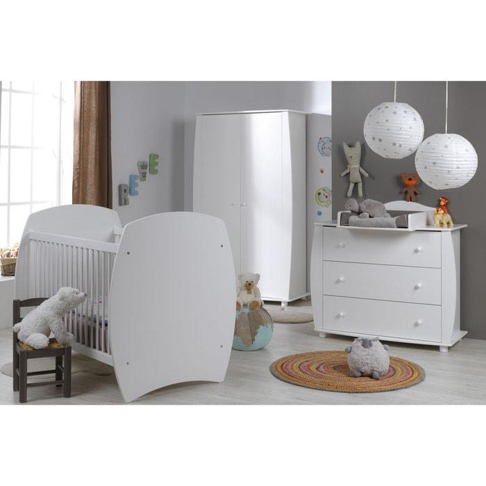 chambre b b 70x140 compl te blanc violette blanc alfred et compagnie la redoute. Black Bedroom Furniture Sets. Home Design Ideas