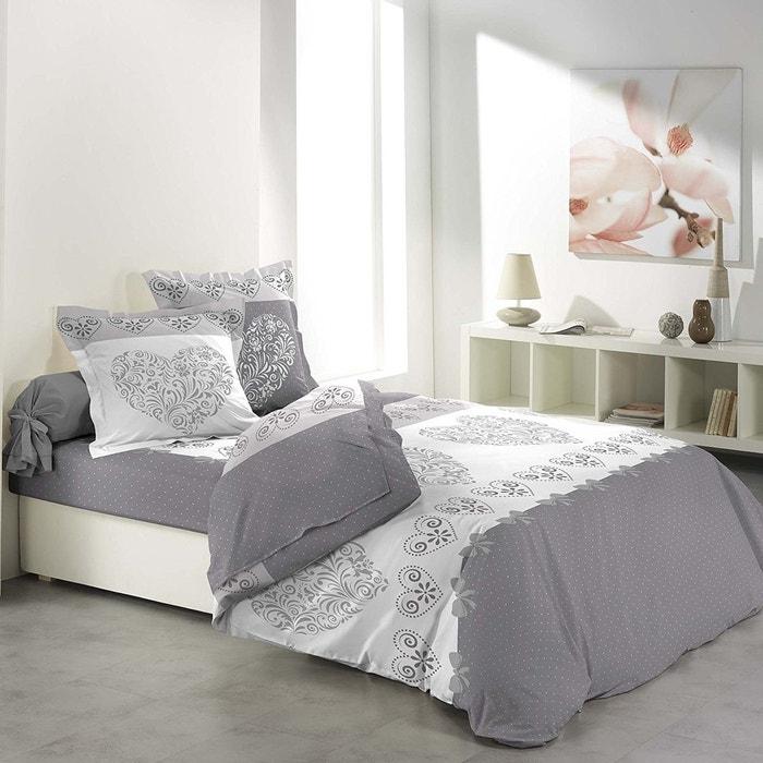 parure de drap 2 taies d 39 oreiller modele amoureux couleur unique douceur d 39 int rieur la redoute. Black Bedroom Furniture Sets. Home Design Ideas