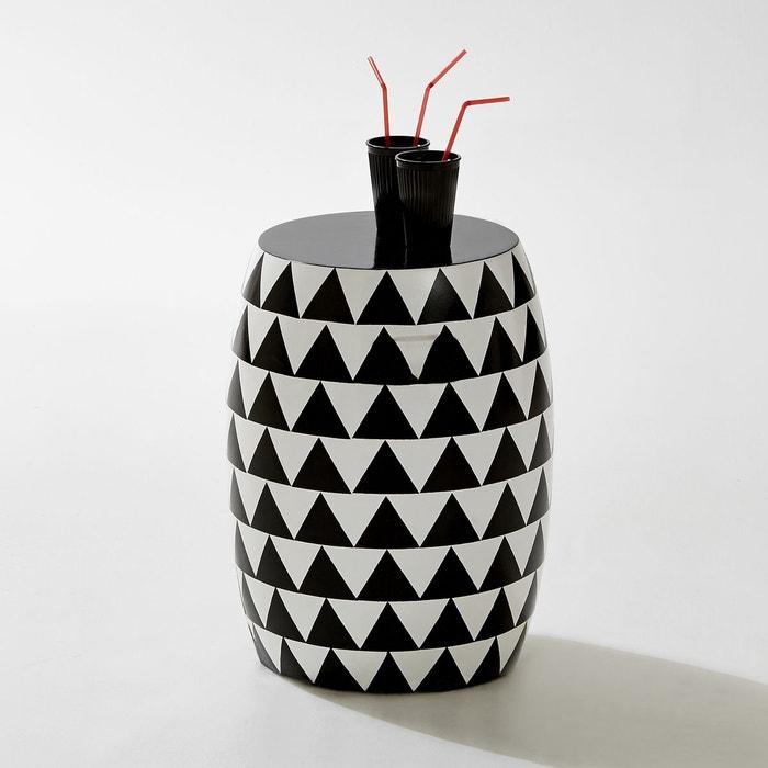Tabouret rond de jardin motifs triangles fibre d la for La redoute meuble jardin