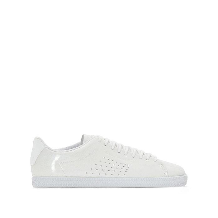d521c534bd61 Baskets charline coated s leather blanc Le Coq Sportif