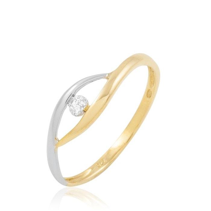 Bague or et diamant bicolore Histoire D'or   La Redoute Meilleur Gros À Vendre shbTp