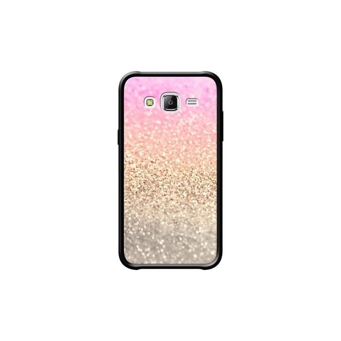 coque pour samsung galaxy j5 c t s silicone noir brillant pink shower par monika strigel noir. Black Bedroom Furniture Sets. Home Design Ideas