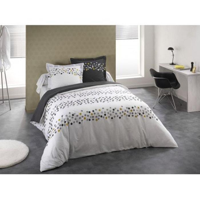 parure de lit confetti blanc blanc monteleone le linge la redoute. Black Bedroom Furniture Sets. Home Design Ideas