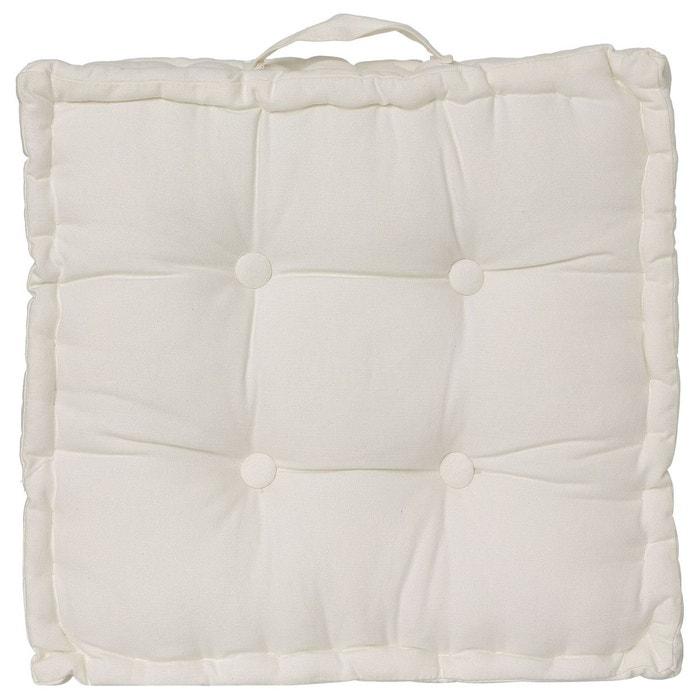 coussin de sol 40 x 40 cm ivoire ivoire atmosphera la redoute. Black Bedroom Furniture Sets. Home Design Ideas