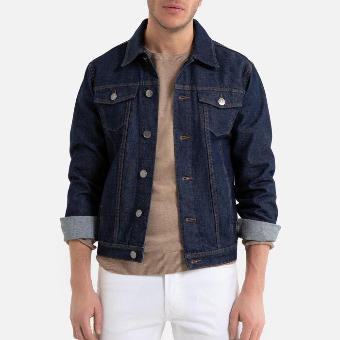 Veste en jean coupe droite bleu brut La Redoute Collections | La Redoute
