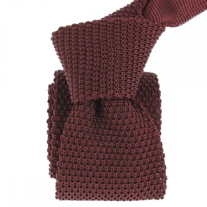 Cravate tricot malvarosa, soie, tony & paul bordeaux Tony Et Paul | La Redoute