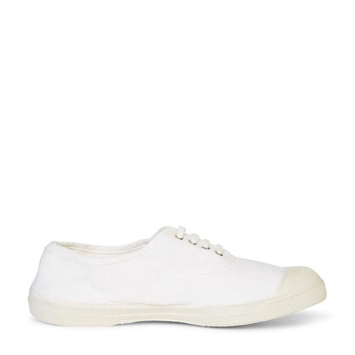 Tennis bensimon à lacets blanc Monoprix