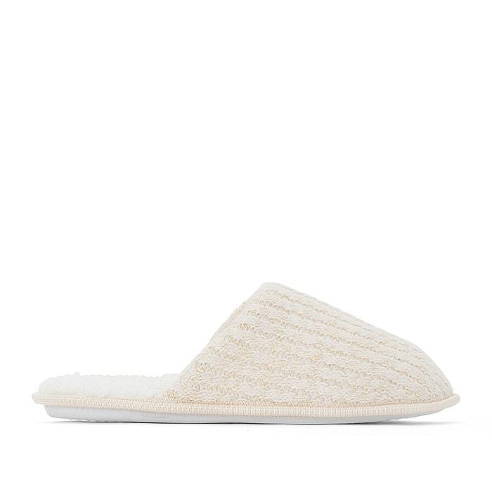Chaussons mules ecru dor la redoute collections la redoute - La redoute rangement chaussures ...
