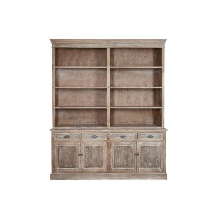 biblioth que double bois naturel blanchi bois clair hellin depuis 1862 la redoute. Black Bedroom Furniture Sets. Home Design Ideas
