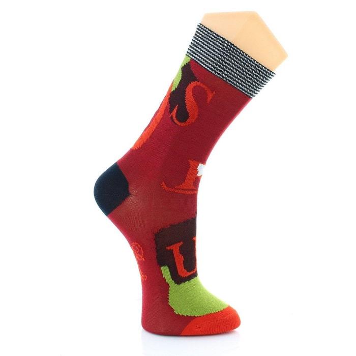 chaussettes homme circus rouge marine vert multicolore berthe aux grands pieds la redoute. Black Bedroom Furniture Sets. Home Design Ideas