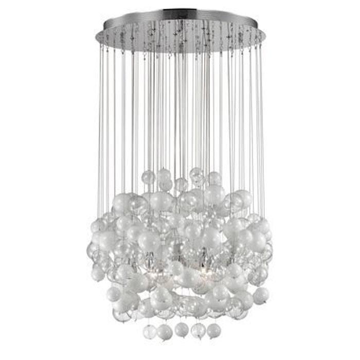 suspension bollicine blanc 14x40w ideal lux 087924 boutica design la redoute. Black Bedroom Furniture Sets. Home Design Ideas