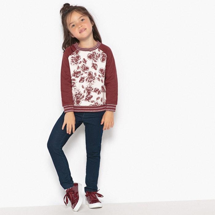 afbeelding Sweater met bloemenprint 3-12 jr La Redoute Collections