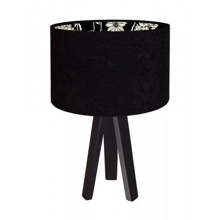 Lampe De Chevet Modern Velour Avec Motif Interieur Noir Recollection
