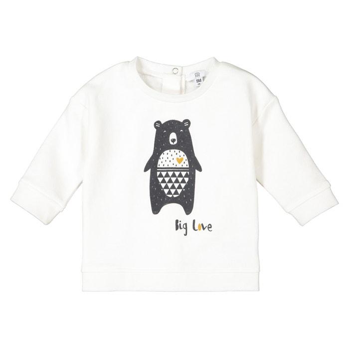 Sweatshirt aus Bio-Baumwolle mit Teddyb/ärmotiv