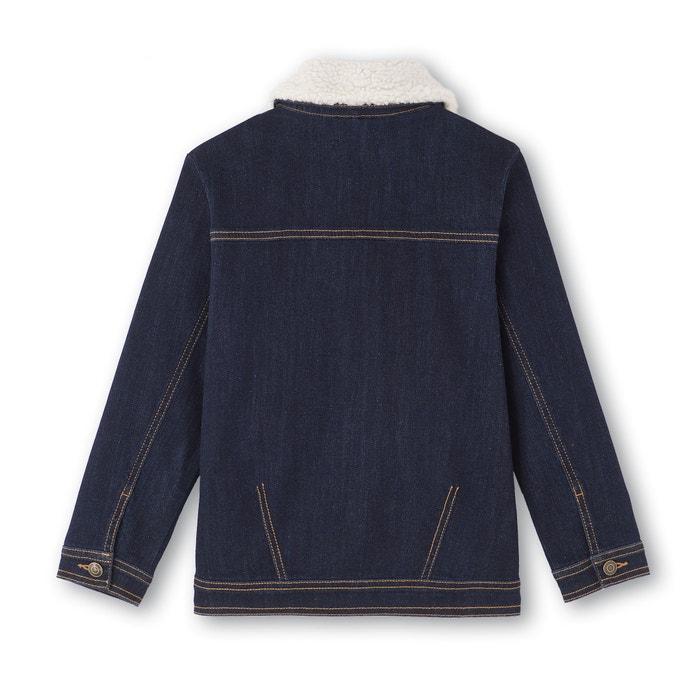 afbeelding Jeansvest met kraag in sherpa 3-12 jaar La Redoute Collections