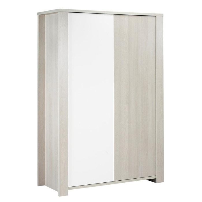 armoire 2 portes opale sans motif sauthon beige sauthon. Black Bedroom Furniture Sets. Home Design Ideas