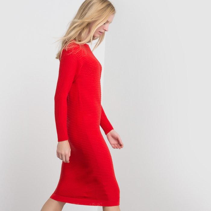 afbeelding Trui-jurk in zuiver merinoswol La Redoute Collections