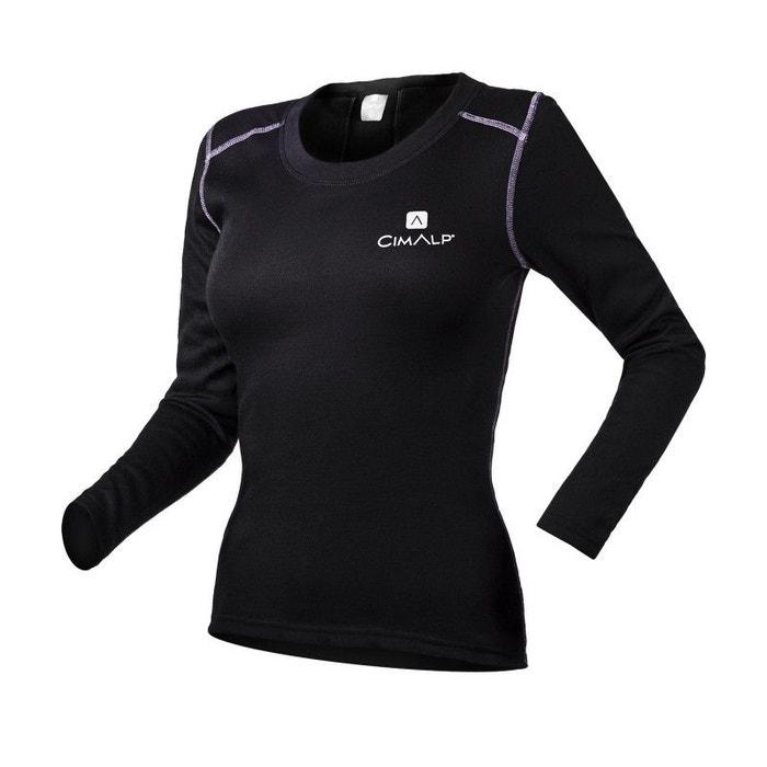Sous-vêtement technique extra-chaud à col rond noir Cimalp  6c953d08644