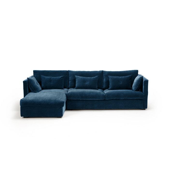 canap d 39 angle fixe camille velours am pm la redoute. Black Bedroom Furniture Sets. Home Design Ideas