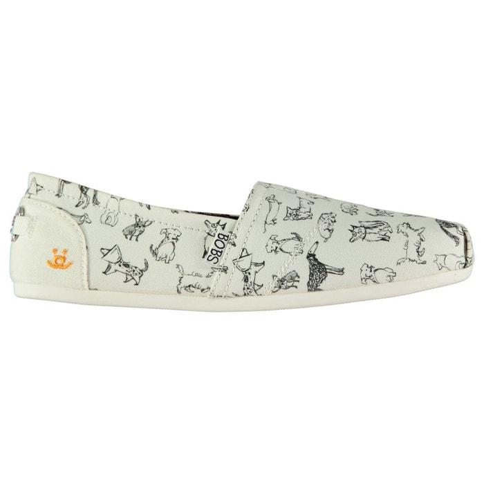 Chaussures en toile imprimé blanc Skechers