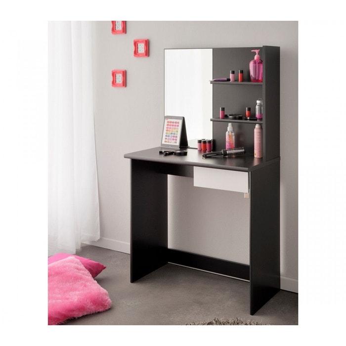 coiffeuse bois noire miroir terre de nuit noir terre de. Black Bedroom Furniture Sets. Home Design Ideas