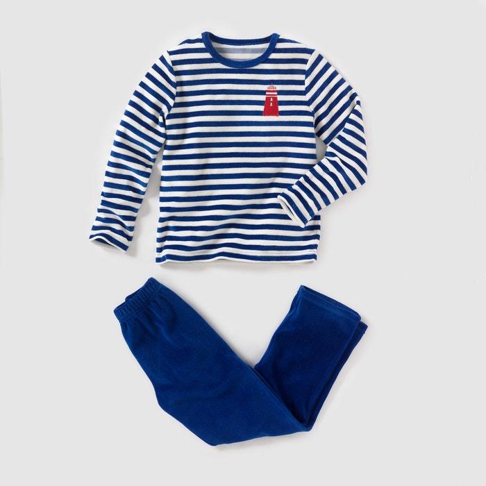 Pijama em veludo, 2-12 anos R essentiel