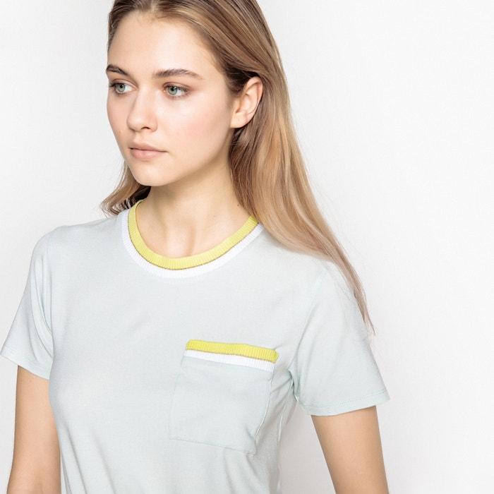 T-shirt scollo rotondo 1 taschino maniche corte  La Redoute Collections image 0