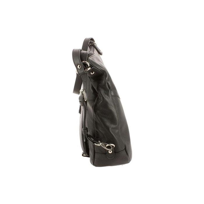 Besaces / sacs bandoulière cuir noir Hexagona | La Redoute Visitez Prix Pas Cher RUdY62h