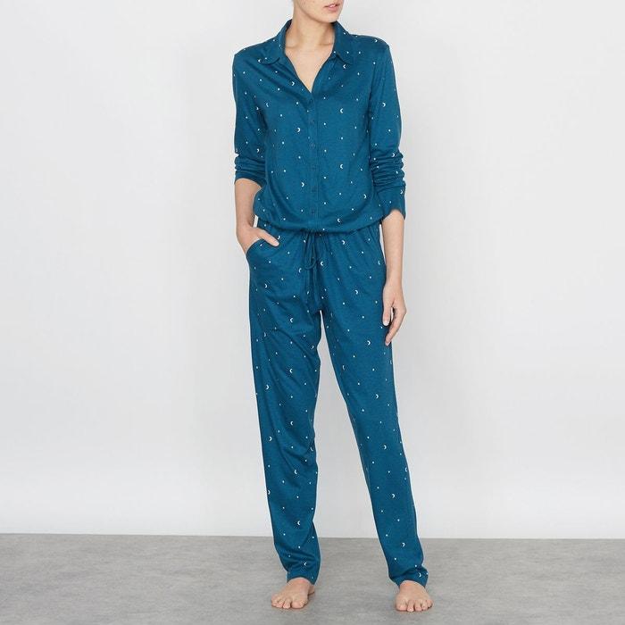 combinaison pyjama imprim imprim marine la redoute collections la redoute. Black Bedroom Furniture Sets. Home Design Ideas
