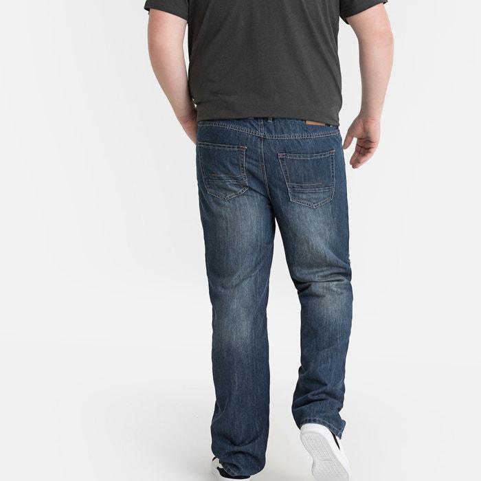 9d8b516283 Vaqueros elásticos con corte recto 5 bolsillos natural dirty Castaluna For  Men