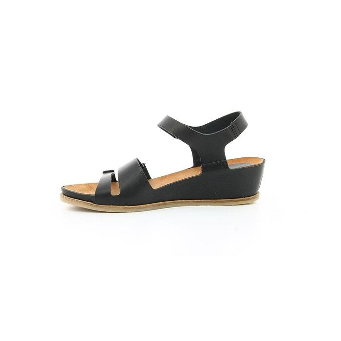 Sandales cuir femme taktime noir Kickers
