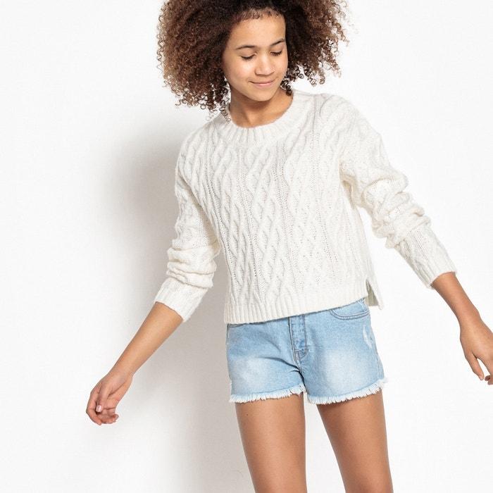 Krótki sweter z fakturą 10-16 lat  La Redoute Collections image 0