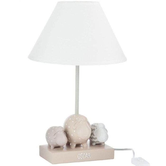lampe de chevet petits moutons couleur unique jolipa la. Black Bedroom Furniture Sets. Home Design Ideas